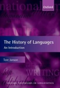 The History of Languages: An Introduction - Tore Janson - cover
