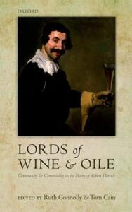 'Lords of Wine and Oile': Community and Conviviality in the Poetry of Robert Herrick - cover