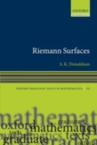 Riemann Surfaces - Simon K. Donaldson - cover