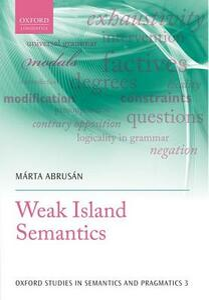 Weak Island Semantics - Marta Abrusan - cover
