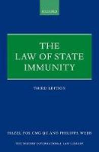 The Law of State Immunity - Hazel Fox,Philippa Webb - cover