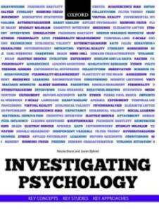 Investigating Psychology: Key concepts, key studies, key approaches - cover