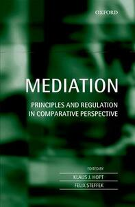 Mediation: Principles and Regulation in Comparative Perspective - cover