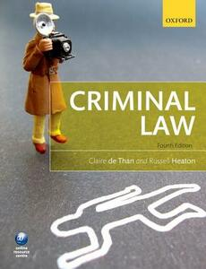 Criminal Law - Claire de Than,Russell Heaton - cover