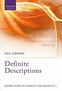 Definite Descriptions - Paul Elbourne - cover