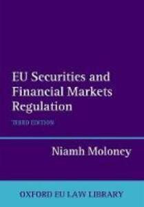 EU Securities and Financial Markets Regulation - Niamh Moloney - cover
