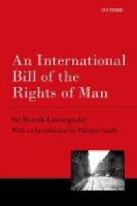 An International Bill of the Rights of Man - Hersch Lauterpacht - cover