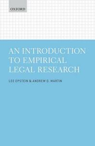 An Introduction to Empirical Legal Research - Lee Epstein,Andrew D. Martin - cover