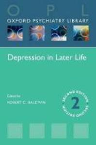 Depression in Later Life - Robert C. Baldwin - cover