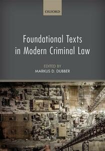 Foundational Texts in Modern Criminal Law - cover