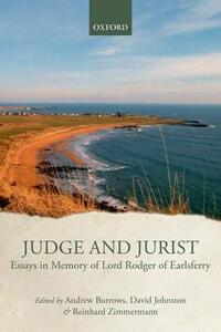 Judge and Jurist: Essays in Memory of Lord Rodger of Earlsferry - cover