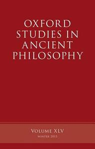 Oxford Studies in Ancient Philosophy, Volume 45 - cover
