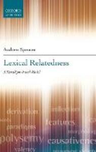 Lexical Relatedness - Andrew Spencer - cover
