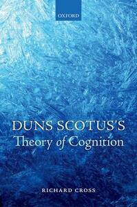 Duns Scotus's Theory of Cognition - Richard Cross - cover
