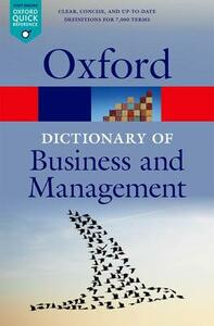 A Dictionary of Business and Management - cover