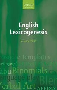 English Lexicogenesis - D. Gary Miller - cover