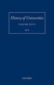 History of Universities: Volume XXV/2 - cover