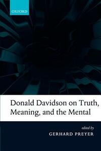Donald Davidson on Truth, Meaning, and the Mental - Gerhard Preyer - cover