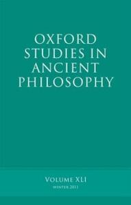 Oxford Studies in Ancient Philosophy, Volume 41 - cover