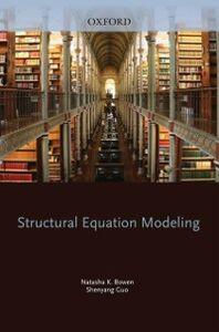 Ebook in inglese Structural Equation Modeling Bowen, Natasha K. , Guo, Shenyang