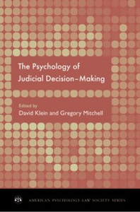 Ebook in inglese Psychology of Judicial Decision Making -, -