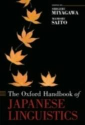 Oxford Handbook of Japanese Linguistics