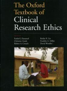 Foto Cover di Oxford Textbook of Clinical Research Ethics, Ebook inglese di  edito da Oxford University Press