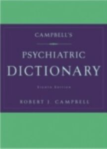 Ebook in inglese Campbell's Psychiatric Dictionary JEA, CAMPBELL ROBERT