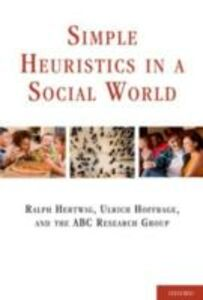 Ebook in inglese Simple Heuristics in a Social World -, -