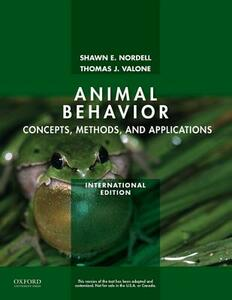 Animal Behavior: Concepts, Methods, and Applications - Shawn E. Nordell,Thomas Valone - cover