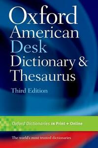 Oxford American Desk Dictionary & Thesaurus - cover