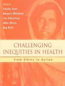 Ebook in inglese Challenging Inequities in Health: From Ethics to Action -, -