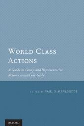 World Class Actions: A Guide to Group and Representative Actions around the Globe