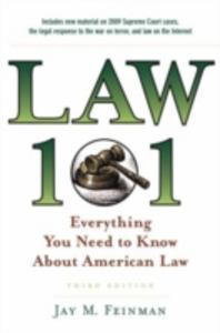 Ebook in inglese LAW 101 3E EBK Feinman, Jay M.