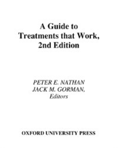 Ebook in inglese Guide To Treatments that Work NATHAN, GORMAN PETER