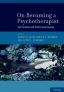 Ebook in inglese On Becoming a Psychotherapist: The Personal and Professional Journey
