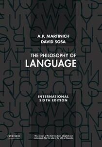The Philosophy of Language - A. P. Martinich,David Sosa - cover