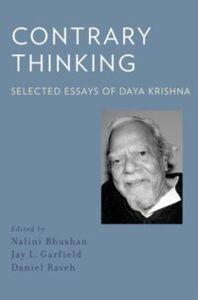 Ebook in inglese Contrary Thinking: Selected Essays of Daya Krishna Krishna, Daya