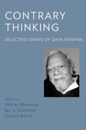 Contrary Thinking: Selected Essays of Daya Krishna