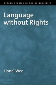 Ebook in inglese Language without Rights Wee, Lionel