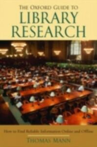 Foto Cover di Oxford Guide to Library Research, Ebook inglese di Thomas Mann, edito da Oxford University Press, USA
