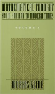 Ebook in inglese Mathematical Thought From Ancient to Modern Times, Volume I Kline, Morris