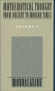 Ebook in inglese Mathematical Thought From Ancient to Modern Times, Volume 3 Kline, Morris