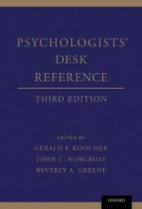 Ebook in inglese Psychologists' Desk Reference -, -