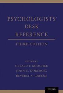 Foto Cover di Psychologists' Desk Reference, Ebook inglese di  edito da Oxford University Press