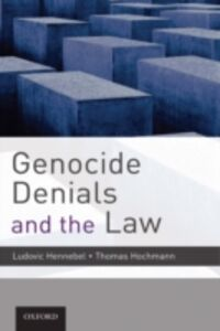 Ebook in inglese Genocide Denials and the Law -, -