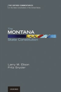 Ebook in inglese Montana State Constitution Elison, Larry , Snyder, Fritz