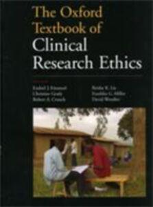 Foto Cover di Oxford Textbook of Clinical Research Ethics, Ebook inglese di  edito da Oxford University Press