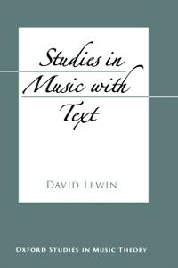 Ebook in inglese Studies in Music with Text Lewin, David