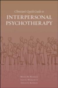 Foto Cover di Clinician's Quick Guide to Interpersonal Psychotherapy, Ebook inglese di AA.VV edito da Oxford University Press